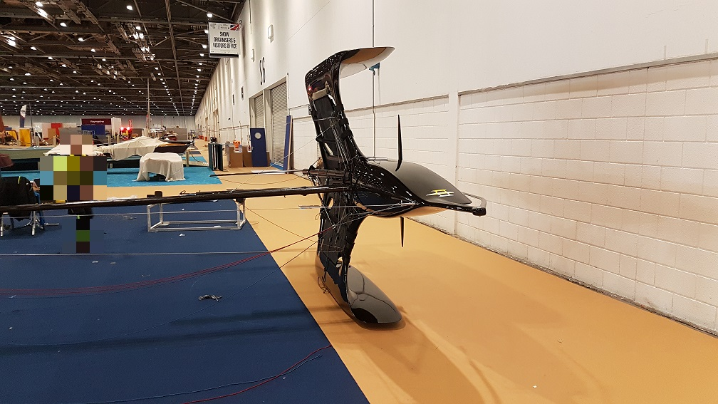 Flying Mantis debut launch london boat show foiling trimaran dinghy sailing multi-hull