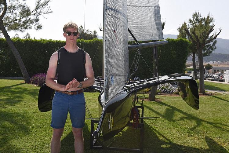 Flying Mantis foiling trimaran Ross Harvey